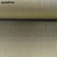 Wholesale 3k Carbon Fiber Fabric Plain Weave Gold g m2 mm Thickness Anti tensile Real High Strength Carbon Fiber Yarn for Building Reinforcement