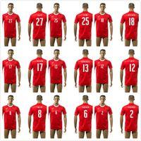 2016 camiseta de Suiza de fútbol nacional superior de Tailandia Calidad 2016 Copa de Europa de 2017 Camisa Suiza EURO Inicio Red de Fútbol