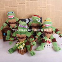 big don - Anime Cartoon TMNT Teenage Mutant Ninja Turtles Leo Don Mikey Raph Plush Toys Soft Stuffed Dolls ANPT289