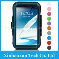 Wholesale Super Comfort and Breathability Sports Armband for Samsung Galaxy Note N7100 N900 Running Armband Excellent Jogging Armband