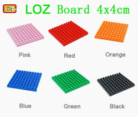 Wholesale LOZ Diamond Building Blocks Board Base x4cm Baseplate Accessories Action Figures Floor Plate Different Colors for Choice