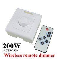 dim - LED Dimmer AC85 V W led dimmer IR Knob Remote control switch for dimmable LED bulb or LED strip led downlight panel light