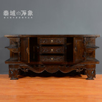 Wholesale Southeast Asian style living room TV cabinet custom wood carving creative Thai cabinet furniture home video deals