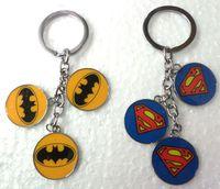 batman logo keychain - Brand Fashion Key Chains Cute Superman Batman Logo Pendant male women s keychain car key ring