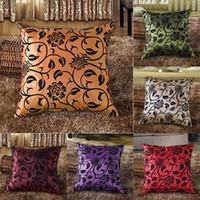 Wholesale Multicolour Decorative Flower Pattern Soft Home Throw Pillow Cushion Case Cover