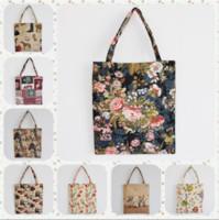 fashion fabric handbags - High Grade Designer Handbags Non Woven Fabric Shoulder Bags Fashion Jacquard Canvas Handbag Women Shopping Bags
