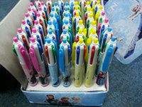 Wholesale 4 colors ballpoint pen frozen anna elsa toys for kids office school supplies minecraft cartoon pen Without Package