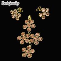 Grossiste-indien de mariée 2015 Brand New Mode acier inoxydable ateel plaqué exquis Crystal Jewelry Set