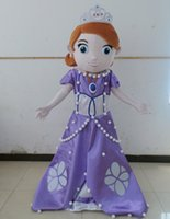 Cheap adult princess sophia costume sofia the first mascot costume