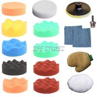 Wholesale 15Pc mm inch High gross Polishing Pad Buff Pad Kit For Car Polisher quot