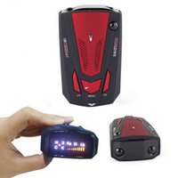 Wholesale 2015 New Car Detector V7 Russia English Voice Degree Detection Alert Speed Limited Radar Warning Vehicle Anti with Led Display Red Blue