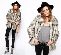 Wholesale Fashion Womens Winter Lapel neck Faux Fur Long Sleeve Warm Outwear Coat Ladies Warm Coats Plus Sizes WT108