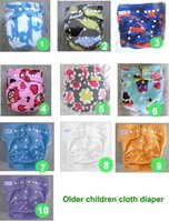 Wholesale 10 color waterproof Older children cloth diaper Nappy nappies diaper diapers nappies insert kg