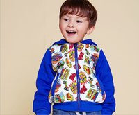 Wholesale New autumn winter children fleece casual graffiti printing zipper hooded boy garment foreign trade children s clothes