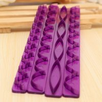 Wholesale New Cake Margin Purple Decorating Tools Frill Ribbon Embosser Sugarcraft Modelling Cutter Mold