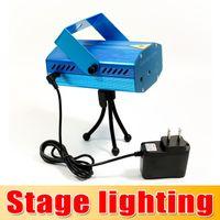 Wholesale Blue Mini Laser Stage Lighting mW Mini Green Red LED Laser DJ Party Stage Light Black Disco Dance Floor Lights Seven eleven