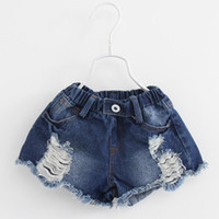 Wholesale 2016 Kids Girls Denim Short Pants Baby Girl Spring Wash Blue Pant Babies Fashion Jean Trouser Children s Clothing SDB906