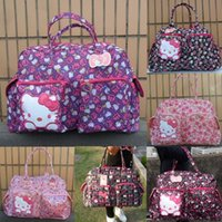 Wholesale The new mom hello kitty large capacity bag Mummy package multifunction printing Bow handbag