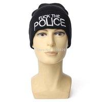 Beanie/Skull Cap Beanies No New FUCK THE POLICES Cuffed Beanie Skull Cap Hipster Rap Hip Hop Hat Unisex Men Women Warm Winter Knit Hats Gangster Caps