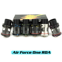 air force glasses - Authentic Air Force One RDA Rebuildable Atomizers Huge Vape With Wide Bore Drip Tips Vaporizer With Glass Dual Posts Fit Box Mods DHL Free