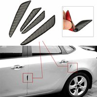 Wholesale Brand New Fashion Design Set Real Carbon Fiber Car Side Door Edge Guards Trims Molding Protection Strip Black