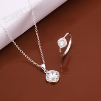 Wholesale fashion jewelry sterling silver pendant necklace fine round two sets of four colors