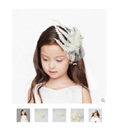Wholesale Handmade Lace Hair Flowers Headbands hair band children Hair Accessories Wedding Kids Jewelry New Style