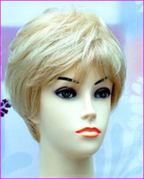 blonde wigs short hair - Boycut Style Short Blonde Blend Lady Wig boycut bob style Blend of Light Ash Blonde and Pale White Blonde wig Personality short hair