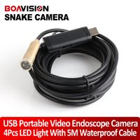 Wholesale 5m Waterproof USB Wired snake Camera waterproof inspection plumbers snake