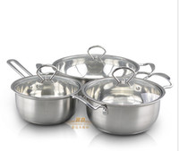 Wholesale Hight Quality Stainless Steel pieces Cookware Set Soucepan Stockpan Cookware for Kitchen