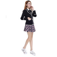 Cheap Red Gray Lovely Japanese Korea School Uniform Dress Cosplay Costume Anime Girl Lady Lolita Cute Dress Tailored Suit Free Shipping