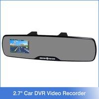 auto camcorder - Car DVR rearview mirror auto dvrs cars dvr parking recorder video registrator camcorder full hd p IR night vision cam