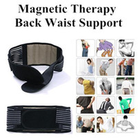 Wholesale New Tourmaline Adjustable Self heating Lower Pain Relief Magnetic Therapy Back Waist Support Lumbar Brace Belt Double Pull Strap Fast Ship