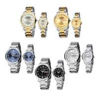 eyki - EYKI Fashion Classic Lover s Watch Table Quartz Calendar Steel Watchband EET8598 Men Women Dress Watches Black Blue Golden White
