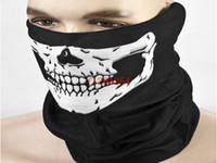 Livraison gratuite Fashion Skull design Multi Function Bandana Motard Masque cou Echarpe Tube, 100pcs / lot