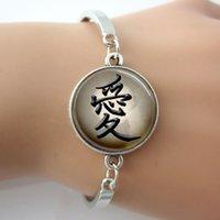 achat en gros de aimer les photos bracelet-Bracelet japonais, Amour Bangle, Bijoux Symbole Calligraphie photo dôme de verre Art pendentif pour les amateurs de cadeaux