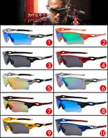 Wholesale Europe and the United States with big sunglasses sport cycling sunglasses radar PathO fashion dazzle colour mirrors