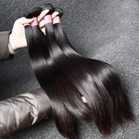 Armadura del pelo peruano Cabello liso Mink teje del pelo de Remy del pelo humano de la Virgen teje sin procesar trama doble Extensiones de cabello a granel al por mayor