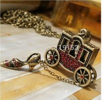Cheap Delicate restoring ancient ways is the fairy tale little red wagon crystal necklace fashion necklaces for women 2014 jewelry