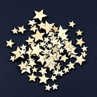 Cheap Wholesale 100Pcs Mixed Star Shape Wooden Buttons DIY Scrapbook Craft Clothing Decor Button