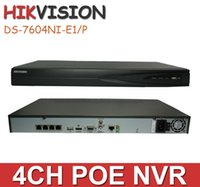 Wholesale Hikvision ch NVR DS NI SE P upgraded to DS NI E1 P up to MP resolution recording With POE Ports VGA HDMI Output