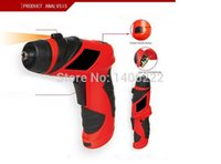 Wholesale 6V Palm Grip Screwdriver Battery Operated Cordless electric drill Household DYI Tools Home assistance with LED order lt no track