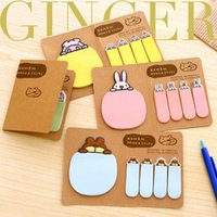 Wholesale 2015 Cute Animal Sticker Post It Bookmark Point Marker Memo Flag Sticky Notes JIA116