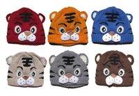 kids hats - 2015 retail fashion Cutie Baby Girls Boys Kids Toddler Crochet Knit Tiger Hat Cap Beanie Bonnet
