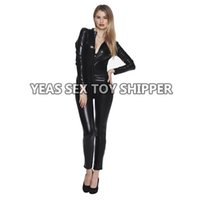 Wholesale Catsuit Women Bodysuit Zip up Clubwear