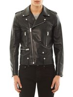 adjustable pipe stand - Balmain Men Black Leather Motorcyle Biker Jacket Mens PU Leather Jacket Coat Double Zipper Outwear Autumn Winder