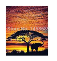 african style living room - African Skies Elephant Home Decoration Wall Sticker Print Stylish Retro Poster Decor Best Nice x77cm KO