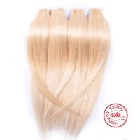 remy tape hair extensions wholesale - EVET Brazilian Human Virgin Hair Tape Hair Extension Remy Straight Hair PU Skin Weft Hair Extensions Blonde PU Tape Hair Extension