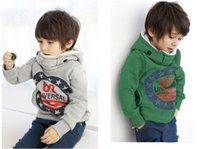 Wholesale boys winter fleece Autumn winter thick cotton cashmere sweater baby Hoodies Sweatshirts kids coat children outerwear