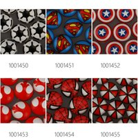 cabochons - 18MM Round Glass Cabochons Superhero DC Comics Pattern Glass Cabochons Flat Back thickness mm Sold pieces